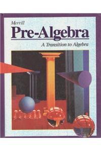Merrill Pre-Algebra Student Edition 1995