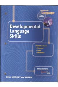 Holt Elements of Language: Developing Language Skills Grade 9