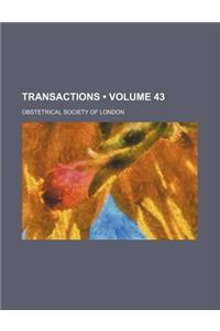 Transactions (Volume 43)
