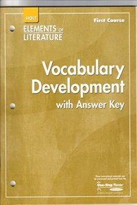 Elements of Literature: Vocubulary Development First Course