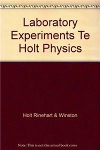 Laboratory Experiments Te Holt Physics