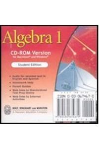 Holt Algebra 1: Student Edition CD-ROM Algebra 1 2003