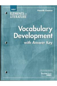Elements of Literature: Vocubulary Development Fourth Course
