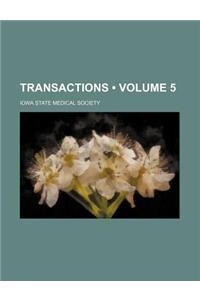 Transactions (Volume 5)