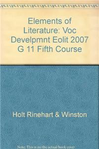Elements of Literature: Vocubulary Development Fifth Course