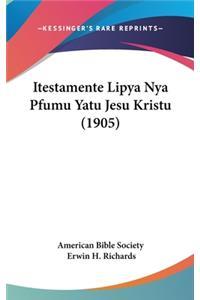 Itestamente Lipya Nya Pfumu Yatu Jesu Kristu (1905)