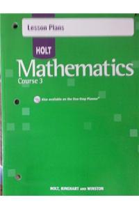 Lesson Pln Holt Math CS 3 2007