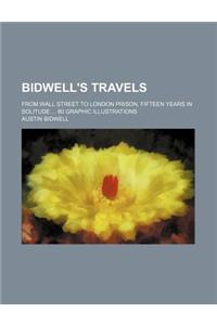 Bidwell's Travels; From Wall Street to London Prison, Fifteen Years in Solitude 80 Graphic Illustrations