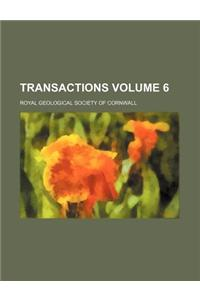Transactions Volume 6