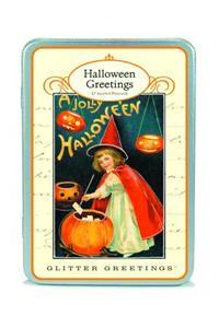 Halloween Glitter Greetings Postcards