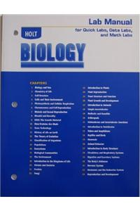 Holt Biology: Lab Manual for Quick Labs, Data Labs, and Math Labs