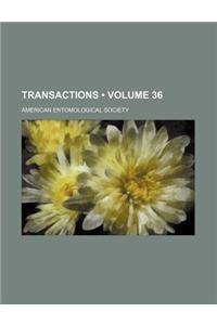 Transactions (Volume 36)
