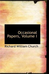 Occasional Papers, Volume I