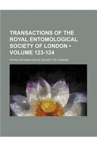 Transactions of the Royal Entomological Society of London (Volume 123-124)