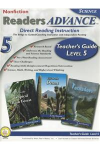 Readers Advance Teacher's Guide, Level 5 [With CDROM]