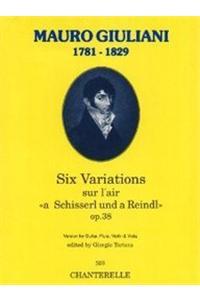Giuliani: 6 Vars. Op. 38 (Gtr, Flt, Vln, Viola)