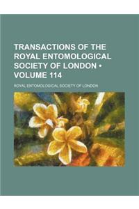 Transactions of the Royal Entomological Society of London (Volume 114)