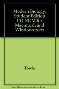 Modern Biology: Student Edition CD-ROM for Macintosh and Windows 2002