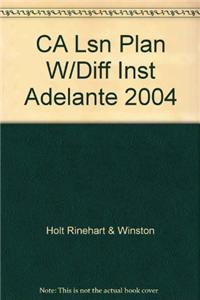 CA Lsn Plan W/Diff Inst Adelante 2004