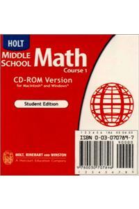 Holt Mathematics: Student Edition CD-ROM Course 1 2004