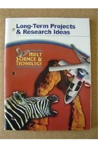 Long-Term Projects/Rsrch Ideas HS&T 2005