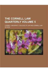 The Cornell Law Quarterly