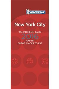 Michelin Map of New York City Great Places to Eat 2016