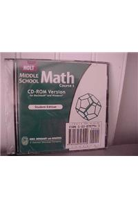 Holt Mathematics: Student Edition CD-ROM Course 3 2004