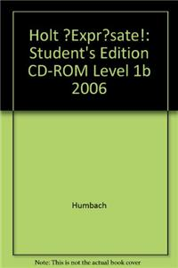 ?Expr?sate!: Student's Edition CD-ROM Level 1b 2006