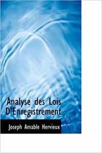 Analyse Des Lois D'Enregistrement