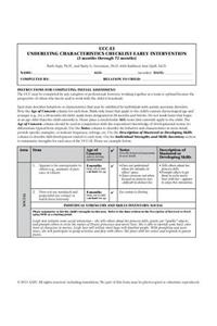Underlying Characteristics Checklist--Early Intervention (Ucc-Ei)