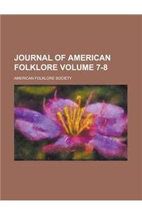Journal of American Folklore Volume 7-8