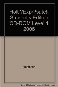 ?Expr?sate!: Student's Edition CD-ROM Level 1 2006
