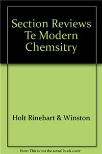 Section Reviews Te Modern Chemsitry