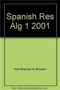 Spanish Res Alg 1 2001
