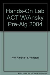 Hands-On Lab ACT W/Ansky Pre-Alg 2004