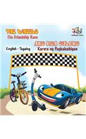 The Wheels -The Friendship Race: English Tagalog Bilingual Children's Books