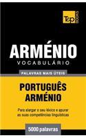 Vocabulário Português-Arménio - 5000 Palavras Mais �teis