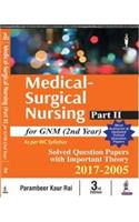 Medical-Surgical Nursing - Part I for GNM (2nd Year)