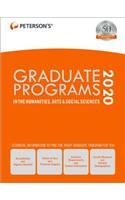 Graduate Programs in the Humanities, Arts & Social Sciences 2020