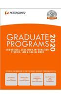 Graduate Programs in Business, Education, Information Studies, Law & Social Work 2020