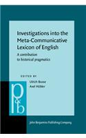 Investigations into the Meta-Communicative Lexicon of English