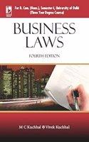 Business Laws (For B. Com. (Hons), Sem-I, University Of Delhi) - 4Th Edn
