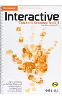 Interactive for Spanish Speakers Level 3 Teacher's Resource Book with Class Audio CDs (4)