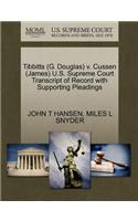 Tibbitts (G. Douglas) V. Cussen (James) U.S. Supreme Court Transcript of Record with Supporting Pleadings