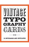 Vintage Typography Notecards