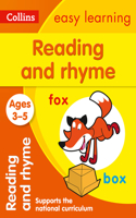 Reading and Rhyme: Ages 3-5