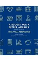 Analytical Perspectives: Budget of the United States Government Fiscal Year 2020
