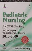 Pediatric Nursing for GNM (3rd Year)