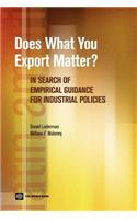 Does What You Export Matter?: In Search of Empirical Guidance for Industrial Policies